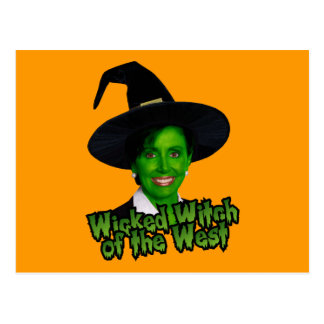 Pelosi Wicked Witch of the West Postcard