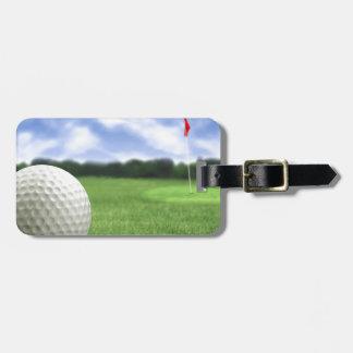 Pelota de golf 4 etiquetas de equipaje