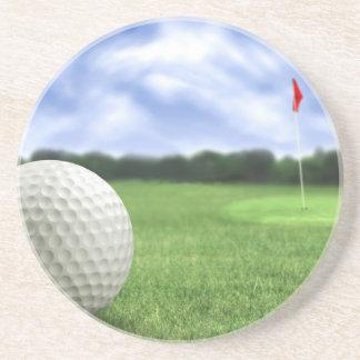 Pelota de golf 4 posavasos diseño