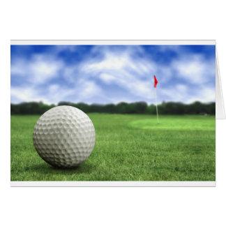 Pelota de golf 4 tarjeta de felicitación