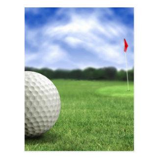 Pelota de golf 4 tarjetas postales
