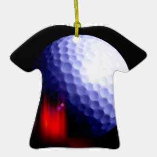 Pelota de golf adorno navideño de cerámica en forma de playera