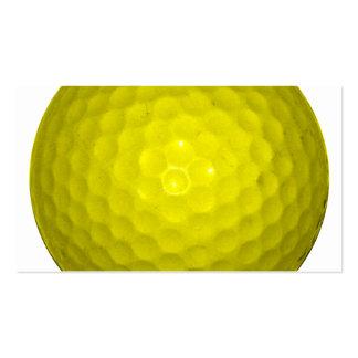 Pelota de golf amarilla brillante plantillas de tarjeta de negocio