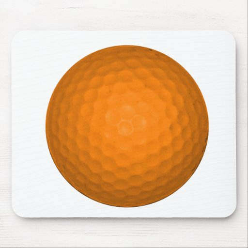 Pelota de golf anaranjada mouse pads