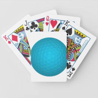 Pelota de golf azul brillante baraja de cartas bicycle