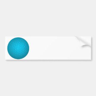 Pelota de golf azul brillante pegatina para auto