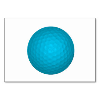 Pelota de golf azul brillante