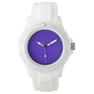 Pelota de golf azul reloj