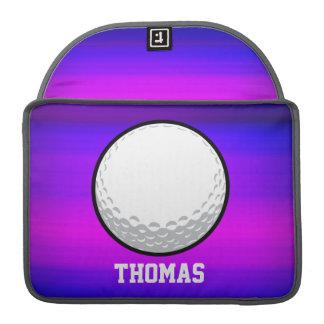 Pelota de golf; Azul violeta y magenta vibrantes Funda Macbook Pro