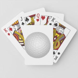 Pelota de golf baraja de cartas