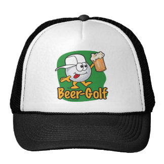 Pelota de golf bebida golf del dibujo animado de l gorras