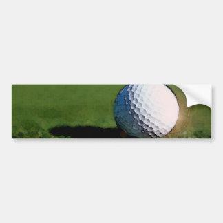 Pelota de golf pegatina de parachoque