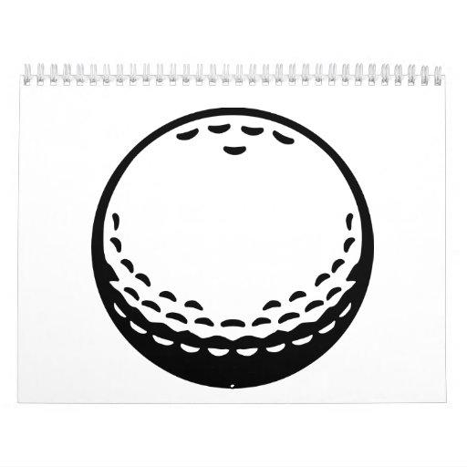 Pelota de golf calendario