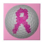 Pelota de golf de la conciencia del cáncer de pech teja