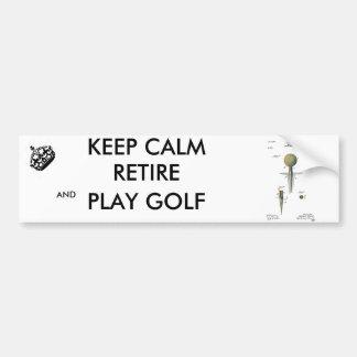 Pelota de golf de la patente en camiseta pegatina para auto