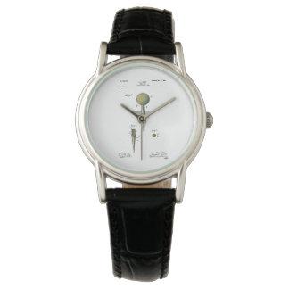 Pelota de golf de la patente en camiseta relojes de pulsera