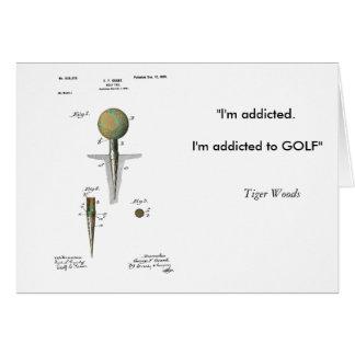 Pelota de golf de la patente en camiseta tarjeta de felicitación