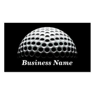 Pelota de golf (debajo de proyector) tarjetas de visita