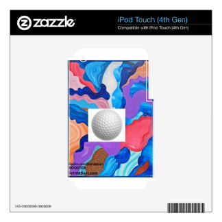 Pelota de golf del gallo calcomanía para iPod touch 4G