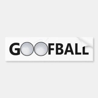 Pelota de golf del Goofball Etiqueta De Parachoque