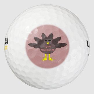 Pelota de golf desplumada acción de gracias de pack de pelotas de golf