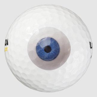 Pelota de golf divertida del globo del ojo pack de pelotas de golf