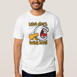 Pelota de golf divertida dura del dibujo animado camisas