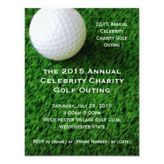 Pelota de golf e invitaciones de encargo de la comunicados personales