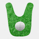 Pelota de golf en césped babero para bebé