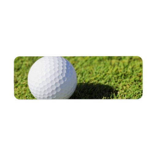 Pelota de golf en el curso de la hierba verde - mo etiquetas de remite