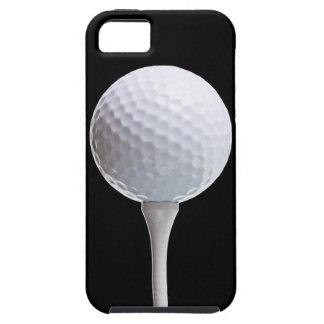 Pelota de golf en el negro - plantilla modificada funda para iPhone 5 tough