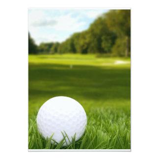 """Pelota de golf en hierba invitación 5"""" x 7"""""""