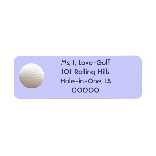 Pelota de golf en las etiquetas del aire etiquetas de remite