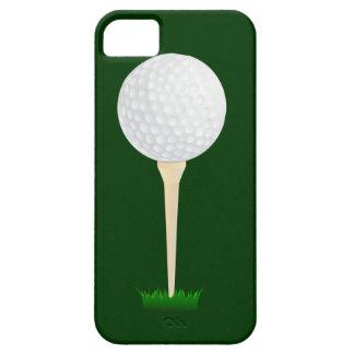 Pelota de golf en una camiseta iPhone 5 fundas
