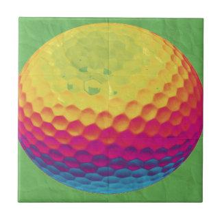 Pelota de golf enrrollada azulejo cuadrado pequeño