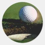 Pelota de golf etiqueta