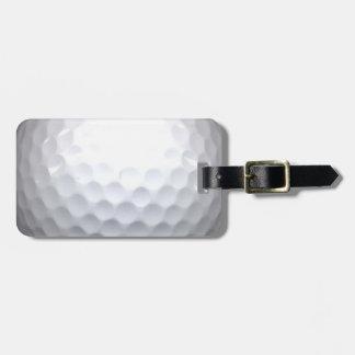 pelota de golf etiquetas de equipaje
