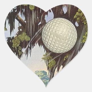 Pelota de golf Golfing de los pegatinas del golf Pegatina En Forma De Corazón