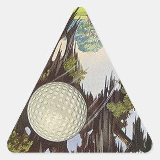 Pelota de golf Golfing de los pegatinas del golf Pegatina Triangular