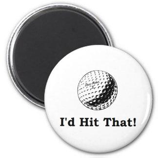 Pelota de golf golpearía eso imán redondo 5 cm