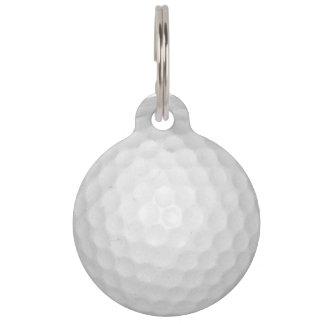 Pelota de golf identificador para mascota