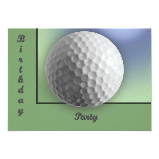"""Pelota de golf invitación 5"""" x 7"""""""