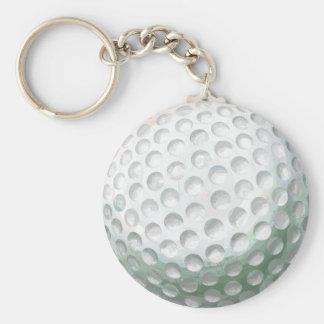 Pelota de golf llavero redondo tipo chapa