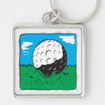 Pelota de golf llavero