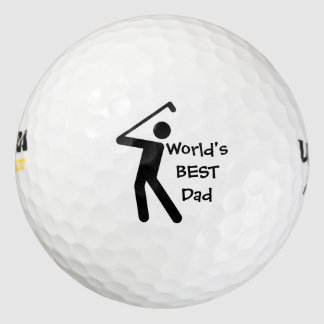 Pelota de golf masculina del golfista