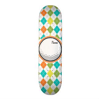 Pelota de golf; Modelo colorido de Argyle Skateboard