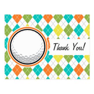 Pelota de golf; Modelo colorido de Argyle Postal