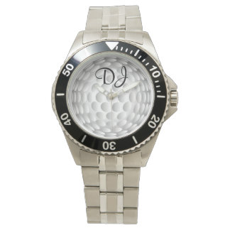 Pelota de golf, monograma, relojes de pulsera