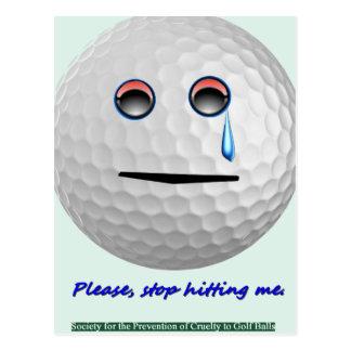 Pelota de golf - pare por favor el golpear de mí postales