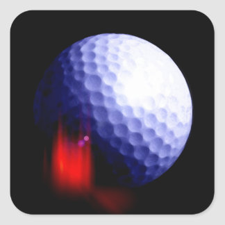 Pelota de golf pegatina cuadrada